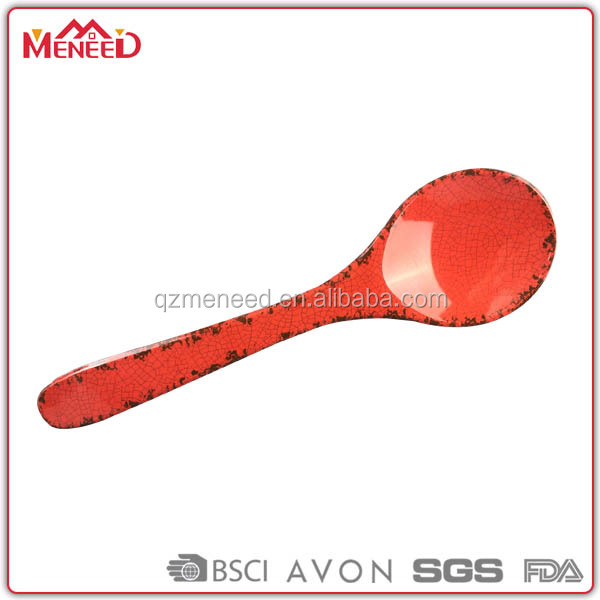 Food grade safe high quality rustic design large plastic melamine salad spoon