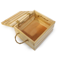 Wood craft nested vintage unfinished tough wood orange crates with lid