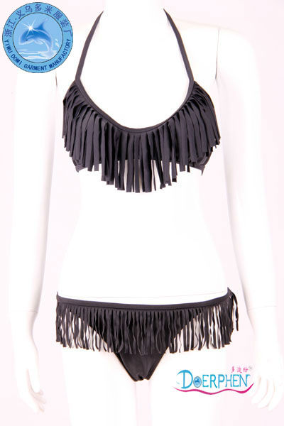 Fashion tassel bikini fringe swimwear