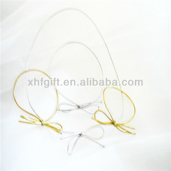 Golden/Silver Elastic Bow for Gift Box packaging