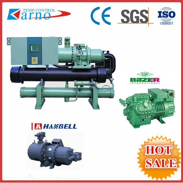 Industrial air cooling water chiller, screw cooling compressor, industrial chiller R407c