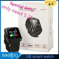 2016 HOT Bluetooth smart watch U8/A1/DZ09/GT08 Wrist Watch U smartWatch for Android Smart phones