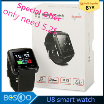 2016 HOT smart watch U8/A1/DZ09/GT08 Wrist Watch U smartWatch for Android Smart phones