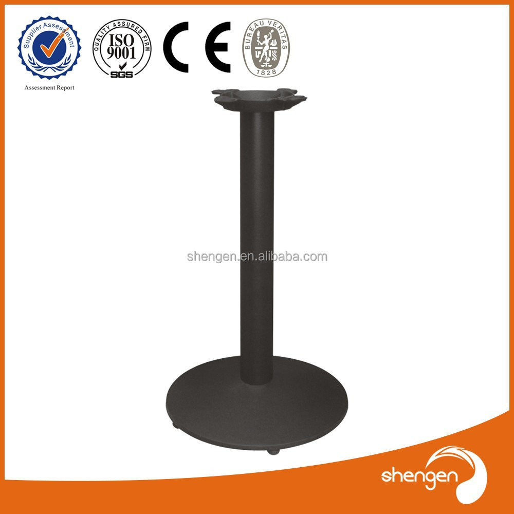 Hot Sale shengen Hardware Factory outdoor metal dining table bases with one leg assembly