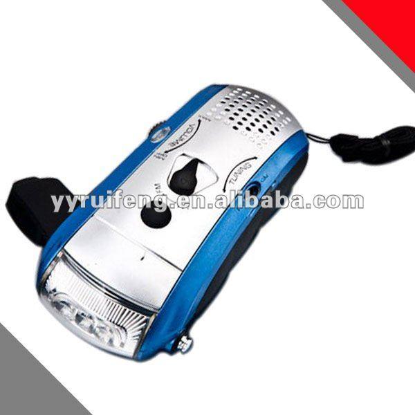 Led Dynamo Flashlight Radio Hand Crank Generator ...