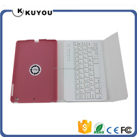 Magnetic Leather Folio Stand Case Cover With Removable Bluetooth Keyboard For Apple iPad Mini