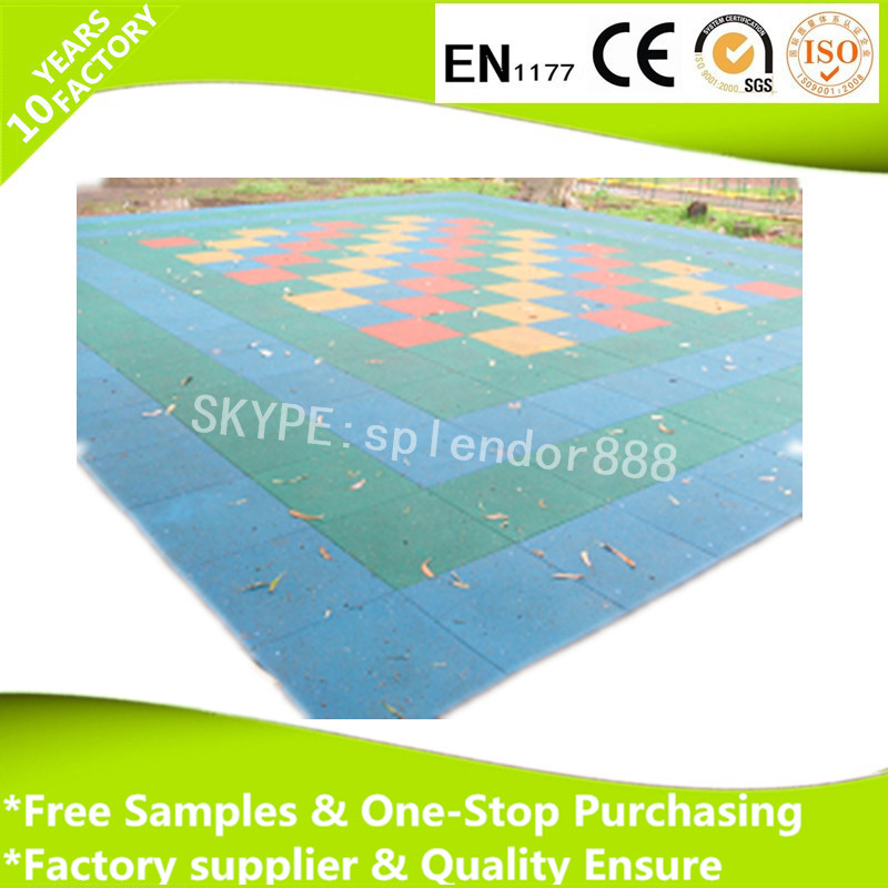 Sports Rubber Flooring,playground rubber tile,square rubber floor mat