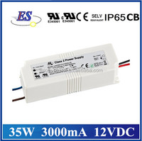 35W 3000mA 12V AC DC Constant Voltage Waterproof LED Driver Power Supply with UL CUL TUV CB CE IP65