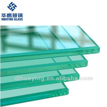 3-19mm Thick Clear Flat Toughened Glass