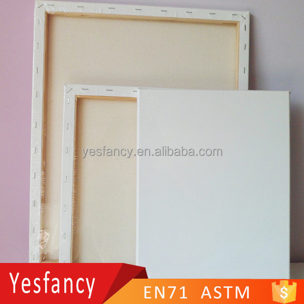 on sale 100% cotton blank stretched canvas wooden frame paintings art on canvas