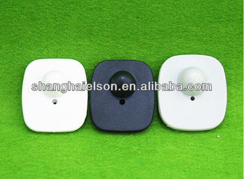 hotselling eas rf security tag mini square hard tag eas alarm tag for bag