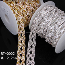 Wholesale handmade dazzling crystal applique trimming rhinestone bridal belt for women RT-0002