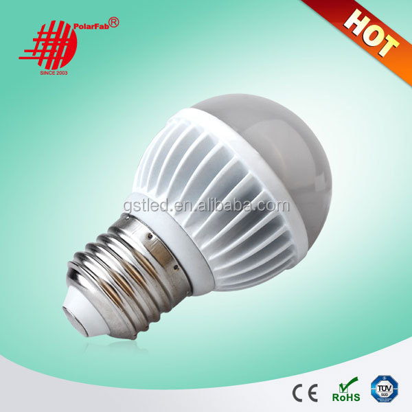 High efficiency 90 lm/w led bulb E27, led lighting bulb 3w 4w 6w 9w 12w
