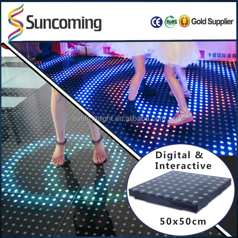 2016 Exhibition Stage Interactive Led Dancing Interactive Floor System