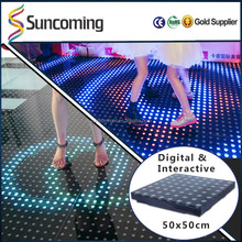 2017 Exhibition Stage Interactive Led Dancing Interactive Floor System