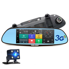 7 inch Android Rear Mirror 3g car dvr with gps tracker