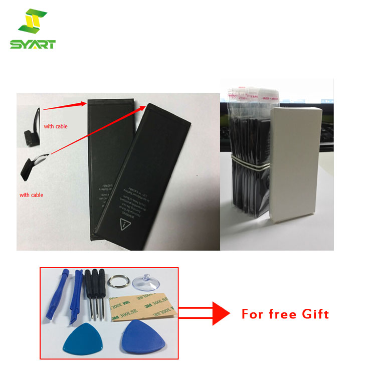 SYART Battery For Apple iPhone 5 Hot selling full Capacity 1440mAh Repair Tools mobile phone batteries