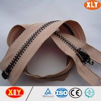3# metal brass plated black nickel gun metal zipper long chain porcket zipper