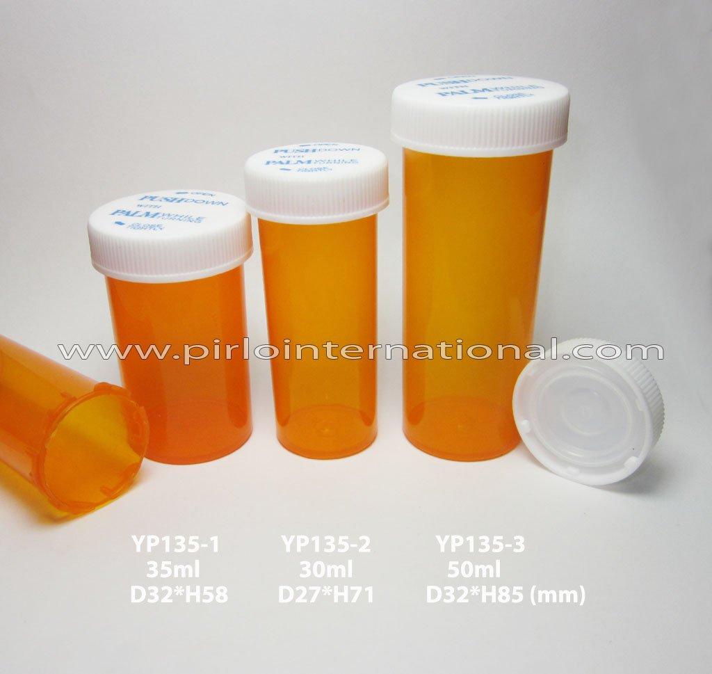 Plastic pill bottles