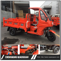 China supplier 250cc water cooled semi closed 3 ruedas triciclo with gasoline engine