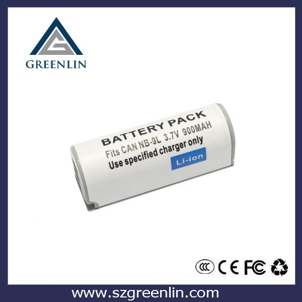 Rechargeable li-ion Battery NB-9L for Canon camera IXUS 1000 HS 900mAh