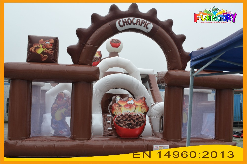 Experience Factory supply cheap high quality colorful obstacle and slide Inflatable Combo for kids