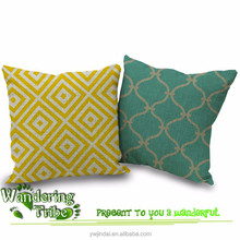 Modern Nordic Sofa Cushion yellow pillow warm colors Home Pillow Decor comfortable green geometry Cushion Cover