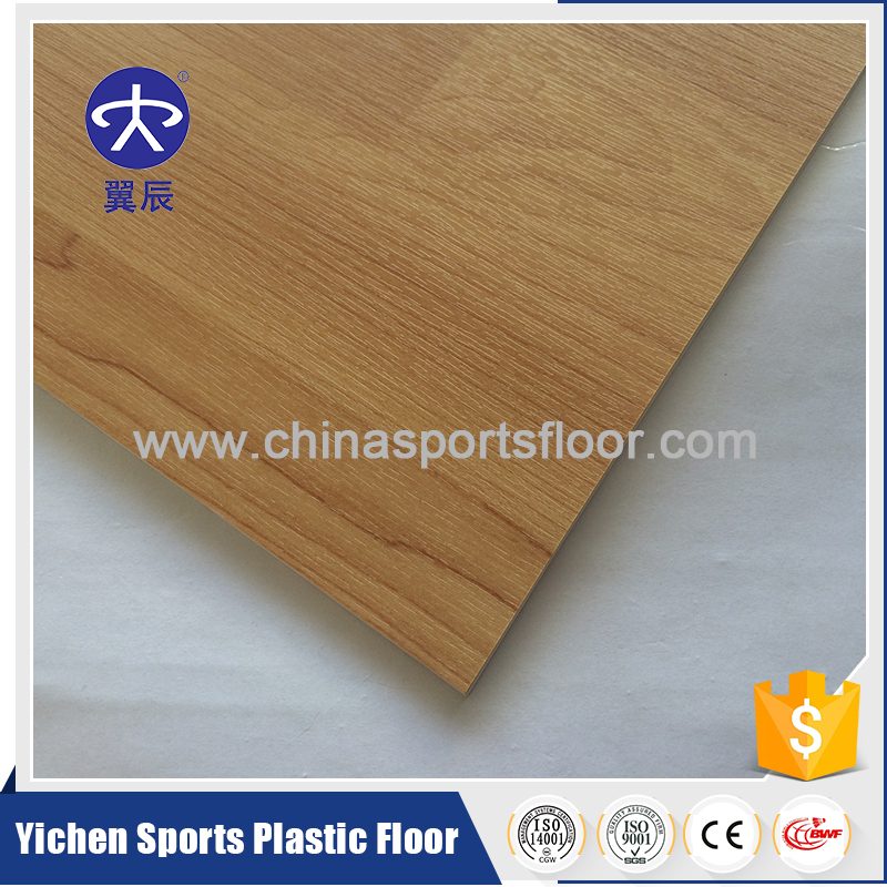 plastic pvc sports flooring wood look with best price for basketball court used