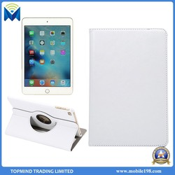 360 degree rotating lichee pattern ultra thin flip pu leather cases smart cover for ipad mini 4