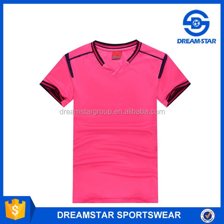2016 New Style Soccer Training Jersey With Pink