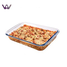 Microwave Customized Clear Glass Pizza Bakeware Pan / Tray