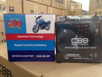 CBB 12V 9Ah Maintenance Free Motorcycle Battery 12N9-BS