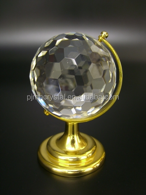 wholesale shining crystal golden globe MH-SQ121