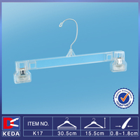 With 15 years experience factory supply rubber gasket clips k-resin pants hanger K17