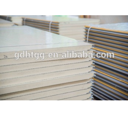 Metal Faced PU Polyurethane Roof and Wall Sandwich Panel for Steel Structure