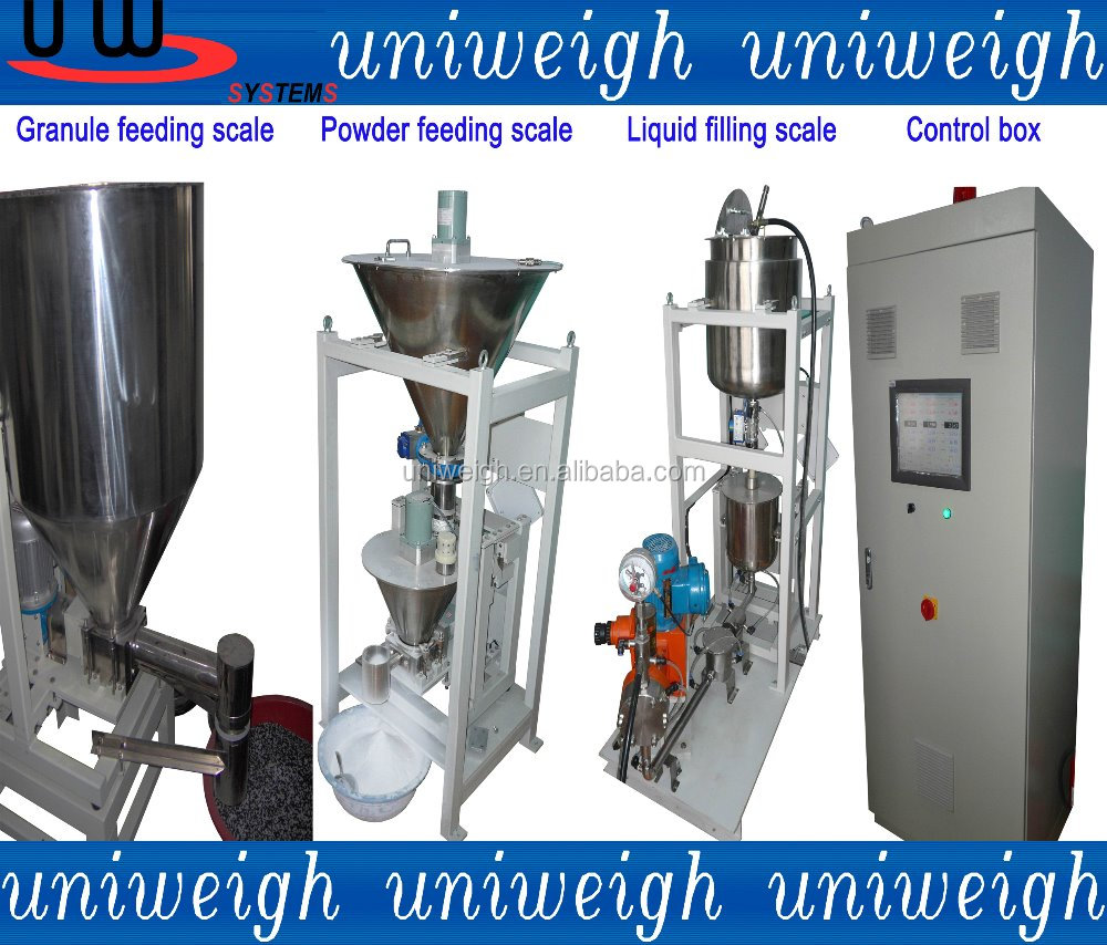 Powder liquid granule chemical oil petrol medicine loss in weight vibrator pump feeder mixer proportion batching compound scale
