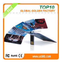 2GB 4GB colorful credit card usb flash drive