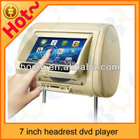 7 inch Headrest monitor headrest cover DVD player