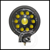 round and yellow 60w LED work light for atv, suv, tractor