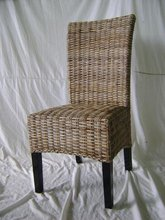 Dining chair w/rattan koboo flat