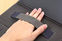For ipad air Latest design custom manufacturing hand holder leather wallet smart cover case