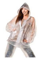 Ladies Clear Fashion Plastic Water Proof Rain Suit