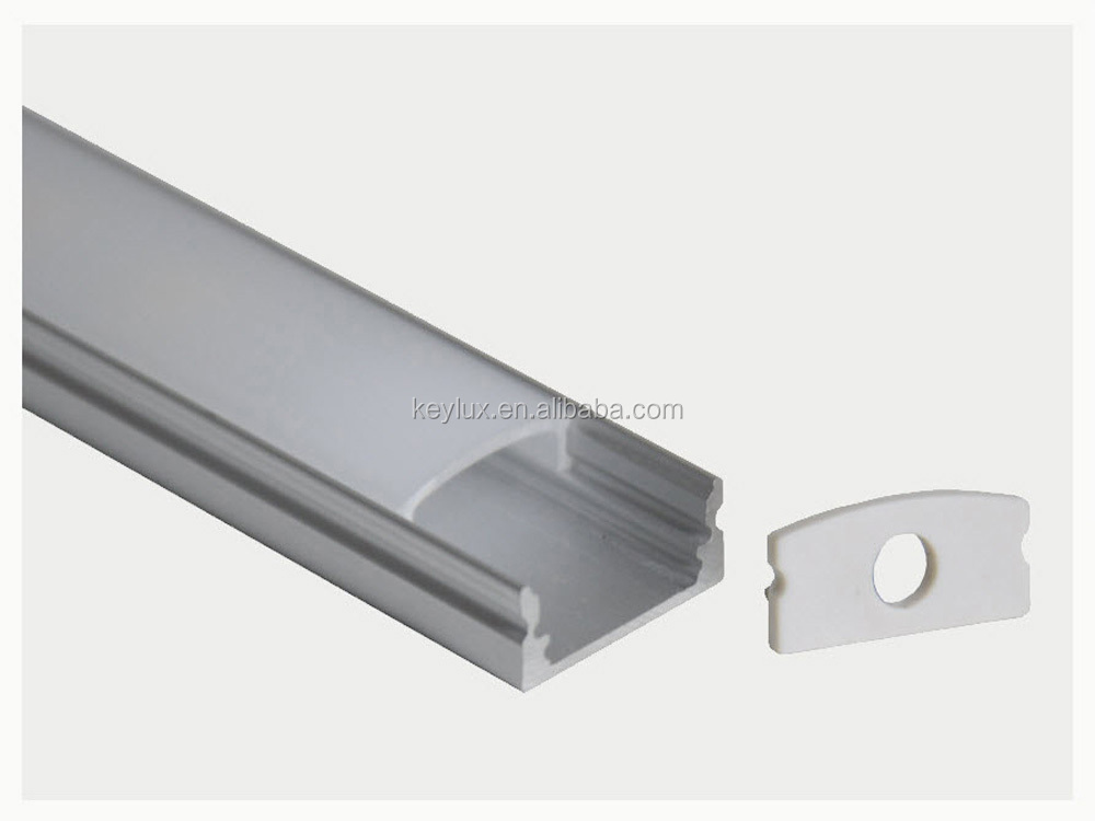 LED Aluminium Profile for Flexible Strips Recessed and Surface Mounted TED001P16