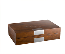 all wood design/classic/wooden WATCH BOX with metal plate