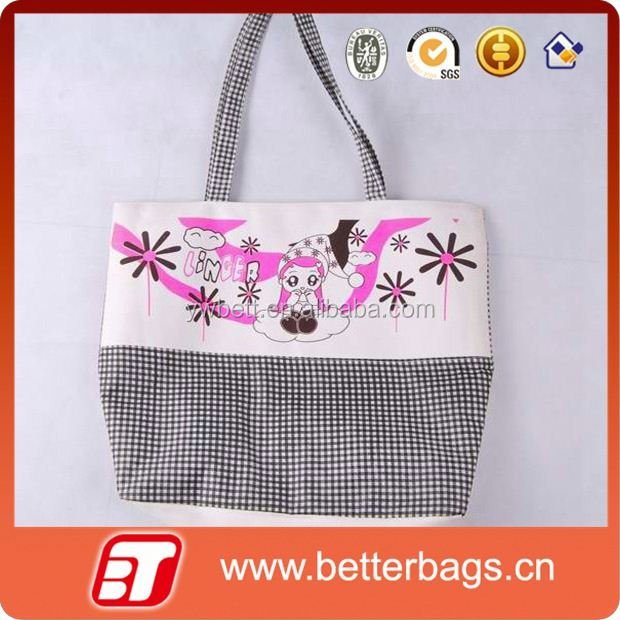 2015 promotional beautiful cotton cloth shopping bags cotton canvas wholesale tote bags