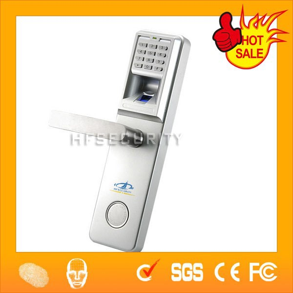 High Security Fingerprint Single Side Door Handle with Lock(HF-LA801)