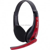 Lightweight adjustable gaming headphone with power adaptor