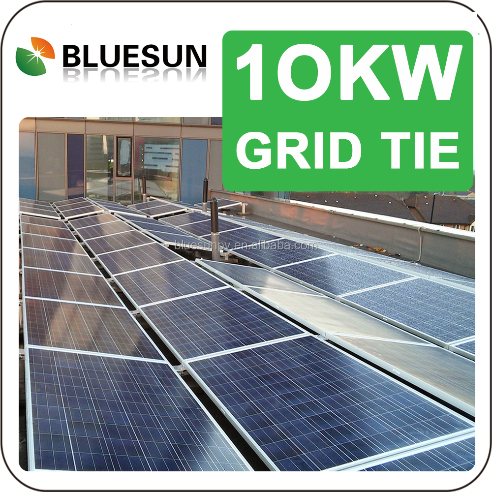 Pitched and Flat roof photovoltaics 10kw system grid tied solution US