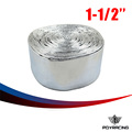"PQY RACING- 1- 1/2"" Aluminized Reflective Mylar Foil Heat Shield Fire Sleeve(One roll=10m)PQY1513A"