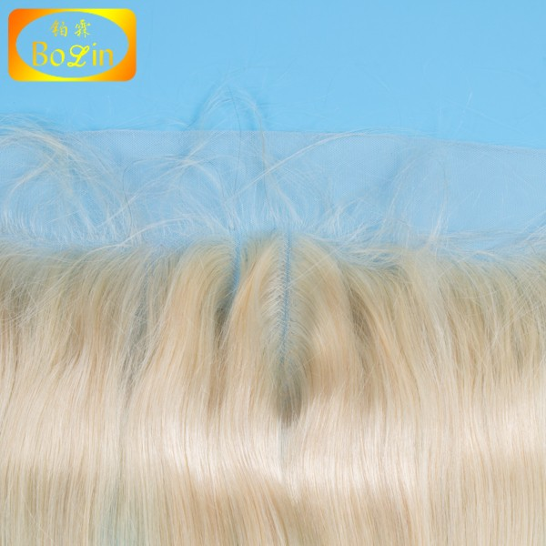 factory wholesale 613 blonde brazilian human hair 13x4 ear to ear lace frontal hair piece